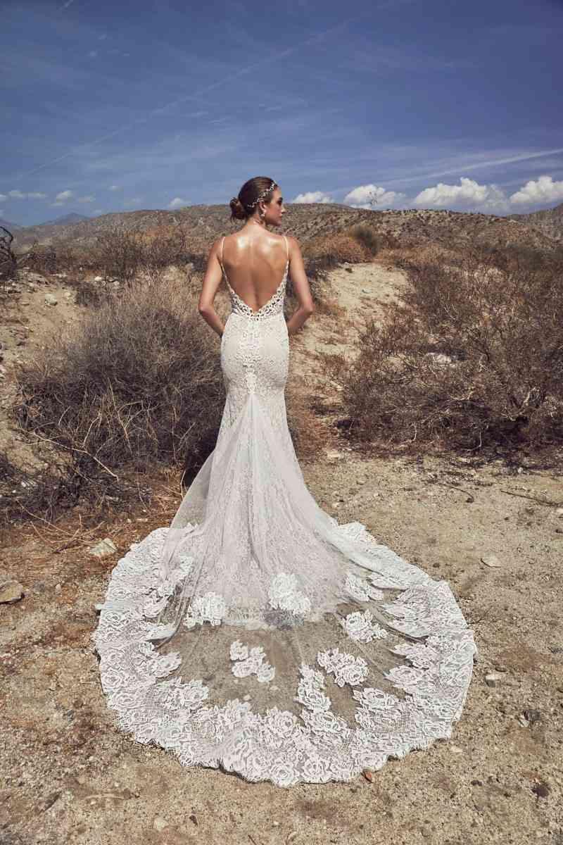 New Sexy Deep V Neck Mermaid Wedding Dresses Calla Blanche Spaghetti Straps Backless Beach Wedding Dress Lace Applique Vestido De Noiva