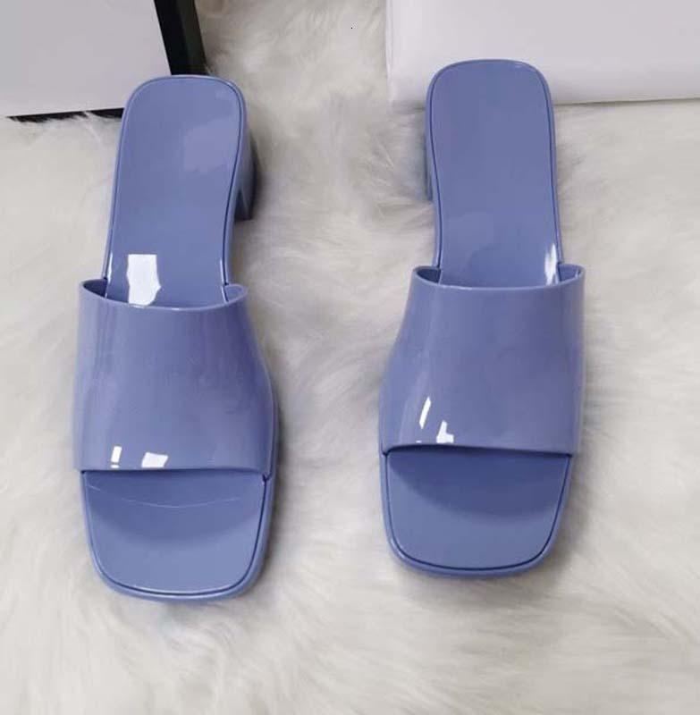 woman slipper fashion Beach Thick bottom slippers platform Alphabet lady Sandals Leather High heel slides slippers shoe02 01