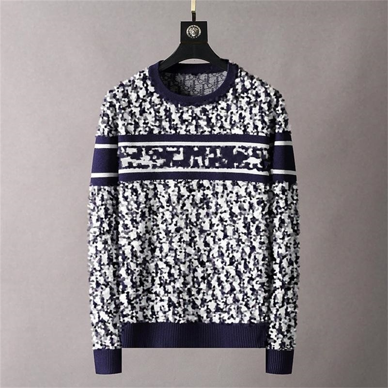 high quality Men's sweater letter embroidery knitted sweater winter sweatshirt round neck round neck long sleeve sweater female design sizes M-3XL
