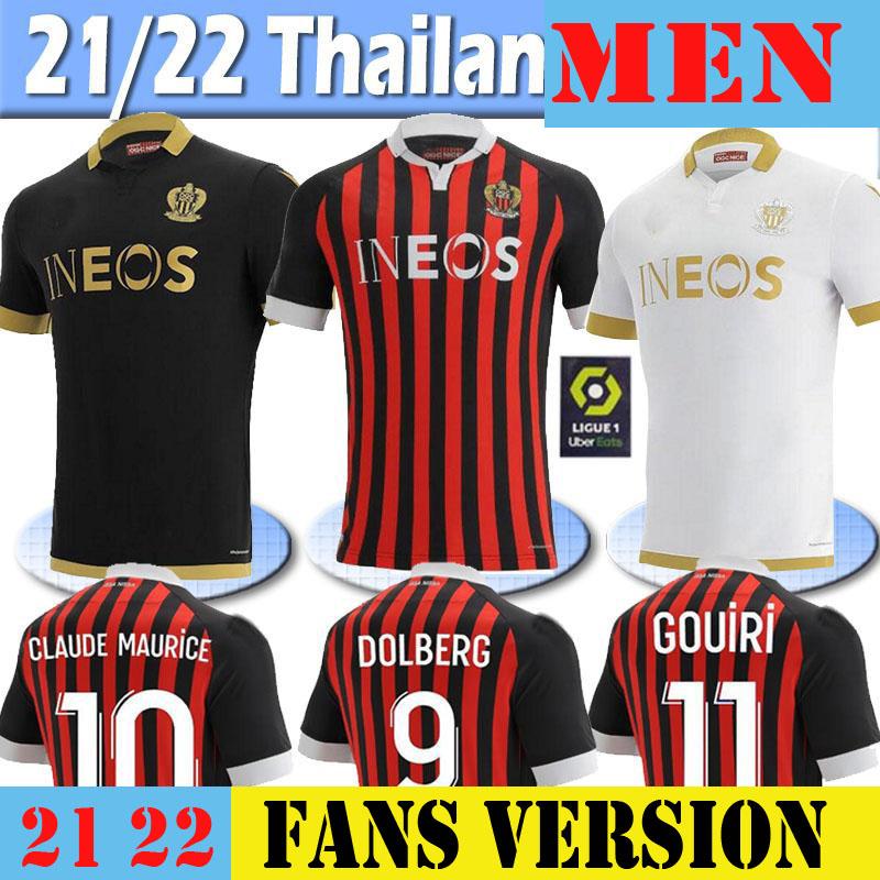 21 22 maillot de foot OGC Nice Soccer Jersey 2021 2022 ATAL Dolberg Pierre Lees-Melou Gouiri Ignatius Ganago Wylan Rony Lopes Football Shirt 2XL 3XL 4XL 5XL 6XL