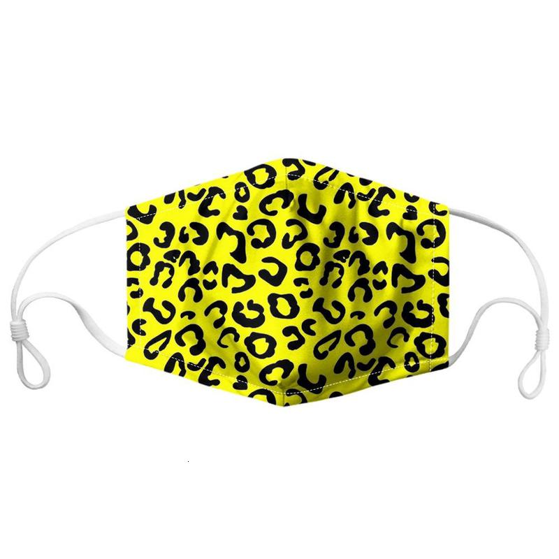 Cartoon Animal Printed Mask Leopard Print Reusable Dust Windproof Face Masks Party Adult Fun Fancy Half Face Mask