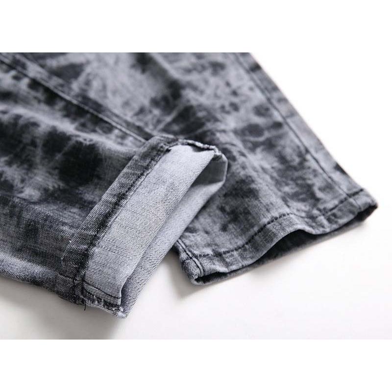 Mcikkny Mens Fashion Printed Jeans Pants Hip Hop Stretch Denim Trousers Male Streetwear (2)