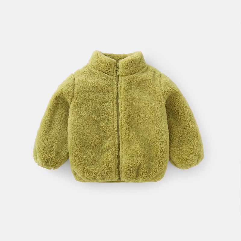 COOTELILI Fashion Fur Velvet Girls Boys Jacket Baby Girls Coat Fleece Warm Kids Jacket Snowsuit Baby Girl Hooded Outerwear (18)