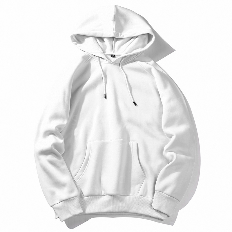 Men's Hoodies & Sweatshirts RED STORE off Fashion white hoodie sweatshirts men men's polerones male Tracksuit Fleece Casual 5SDN