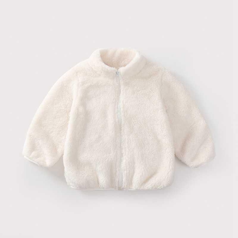 COOTELILI Fashion Fur Velvet Girls Boys Jacket Baby Girls Coat Fleece Warm Kids Jacket Snowsuit Baby Girl Hooded Outerwear (7)