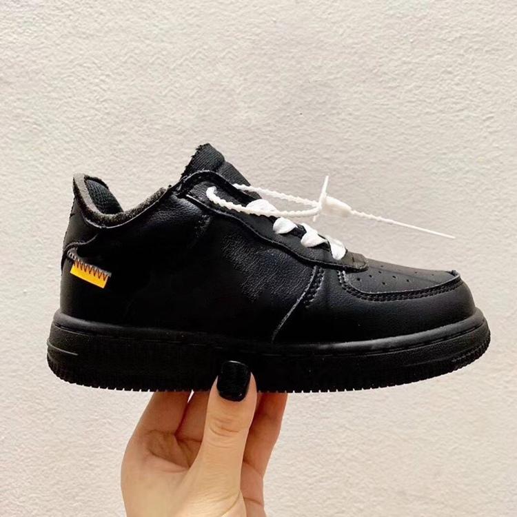 Kids s One 1 MCA Sneakers Little Kids MoMA Low Volt Black University Blue Sport Shoes Boy Girls Infant Virgil Ablohs Shoes