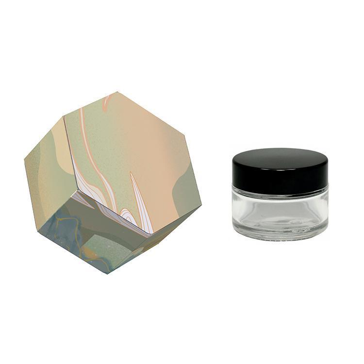 Custom Wax Jar Packaging Box OEM for 3ml 5ml 7ml 9ml Glass Jars Dab Extracts Shatter Concentrate Container Customized Sticker Available