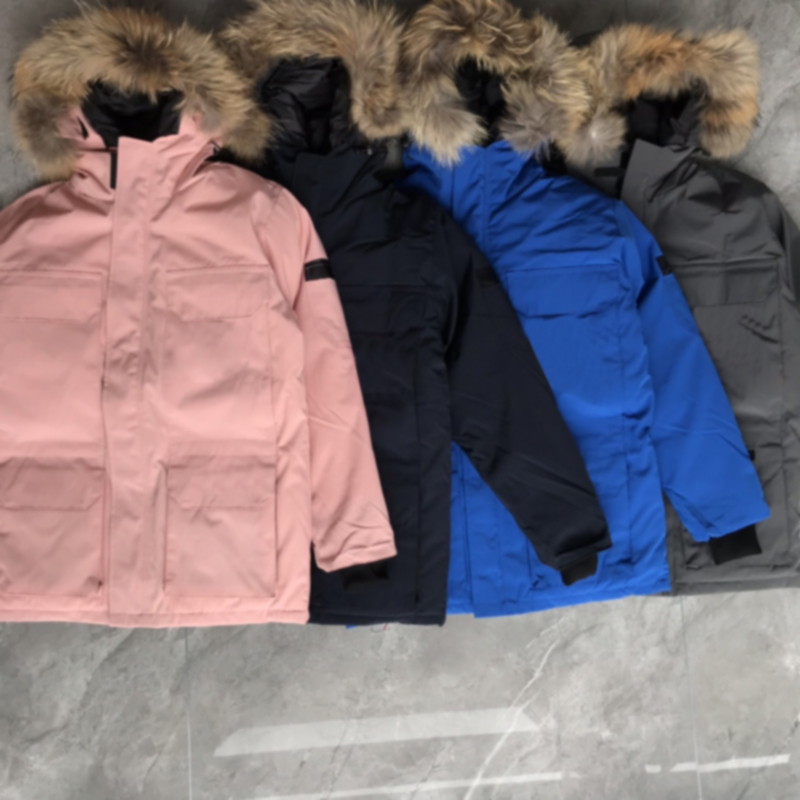 2022 Winter outdoor leisure sports down jacket white duck windproof parker long leather collar cap warm real wolf fur stylish classic adventure