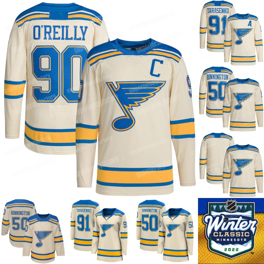 St. Louis Blues 2022 Winter Classic Jersey Ryan O'Reilly Pavel Buchnevich Vladimir Tarasenko David Perron Binnington Brett Hull Brayden Schenn Colton Parayko Thomas