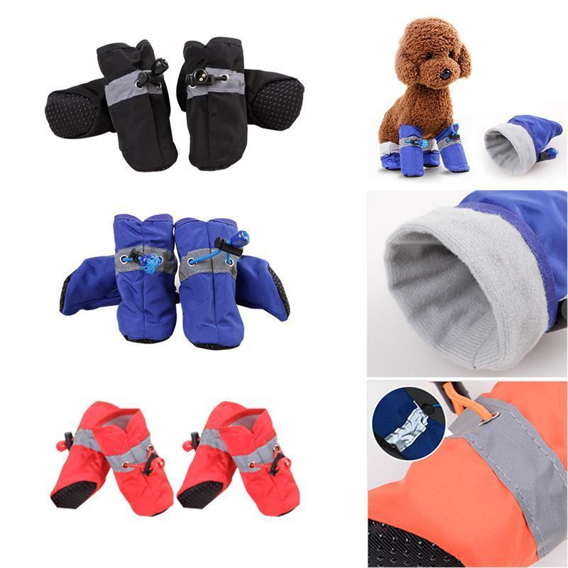 Footwear Thick Dog Socks Waterproof Anti-slip Winter Warm Rain Boots Puppy Sneakers Protective Pet Shoes Pet Supplies