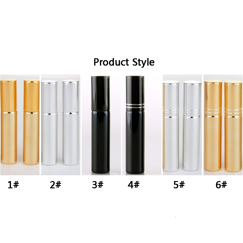 10ml Perfume Bottles Anodized UV Glass Tube Atomizer Spray Bottle Mini Refillable Empty Case Cosmetic Container Packing Bottles DBC VT0987