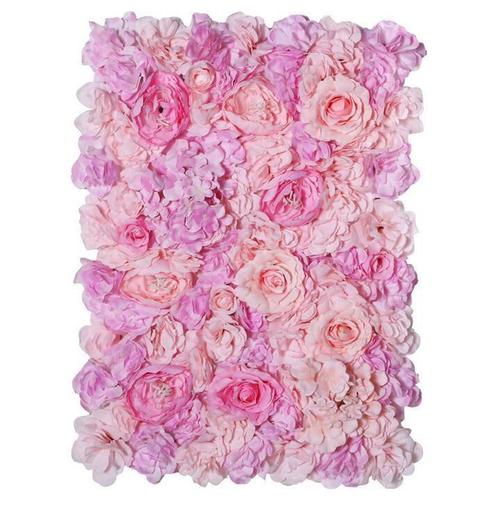 60x40cm each Piece Peony Hydrangea 3D Rose Flower Wall Panels for Wedding Backdrop Centerpieces Party Decorations