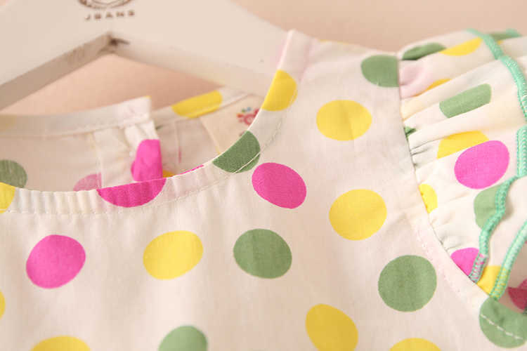 Summer 2-10 Years Beautiful Pretty Sweet Children Baby Kids Pleat Short Fly Sleeve Party Prom Polka Dot Dresses For Girls (15)