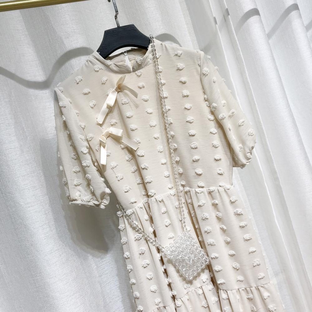2020 A Line New Girls Bow Summer Bohemian Long Dress Women Fashion Summer Solid Casual Clothes Short sleeve Party Dresses vestidos