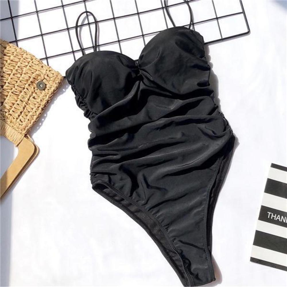 Swimming Suit Women Leopard Printed Solid Color Swimsuit Padded Push-up Bikini Set Sexy Swimwear 2020 High Leg Cut