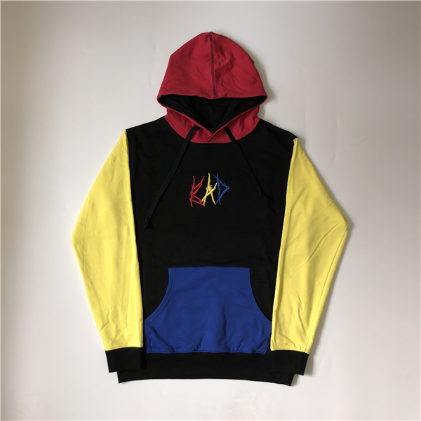 Mens Designer Hoodies Stitching Color Revenge Bad Hoodie XXXTENTACION High Street Fashion Brand Loose Sweatshirt S-XL