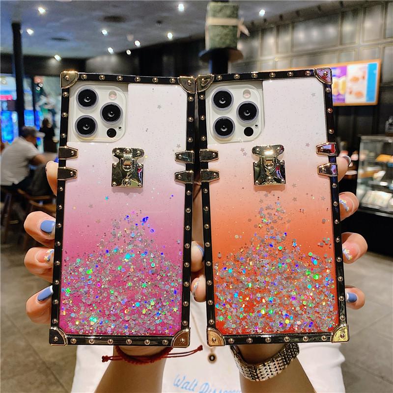 Luxury Bling Diamond Phone Cases For iPhone 13 12 Mini 11 Pro Max Xr Xs X SE 7 8 Plus Samsung Galaxy S21 Ultra S20 Note 20 10 Designer Case