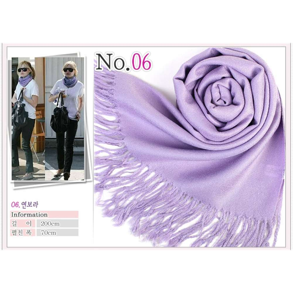 Hot Pashmina Cashmere Solid Shawl Wrap Women's Girls Ladies Scarf Soft Fringes Solid Scarf MOQ