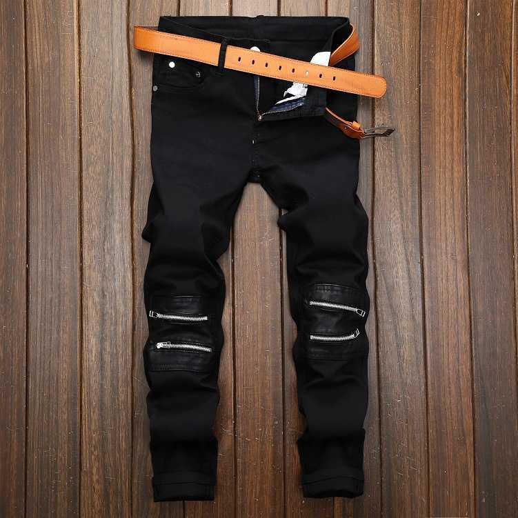 New Spring Autumn Men Hip Hop Jeans Denim Pants Motorcycle Biker Design Fashion Plus Size Zipper Casual Masculina Men