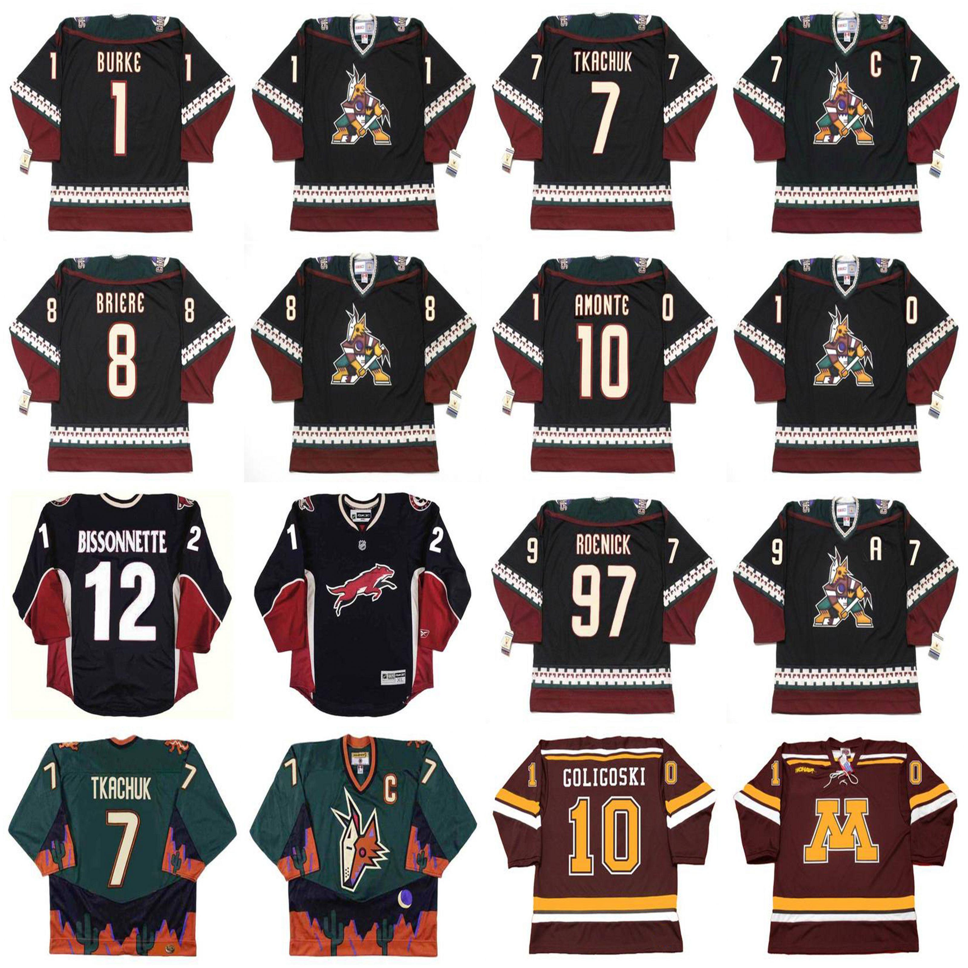 Phoenix Coyotes Hockey Jersey 1 SEAN BURKE 2001 TKACHUK 1998 BRIERE GOLIGOSKI AMONTE BISSONNETTE VRBATA DOAN LEMIEUX GARTNER TOCCHET NUMMINEN KHABIBULIN SMITH