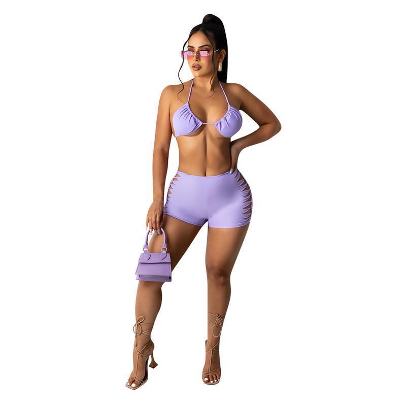 wholesale womens bikinis bathing suit beachwear fashion skinny swimwear set sexy tie-dye swimsuit comfortable klw6497