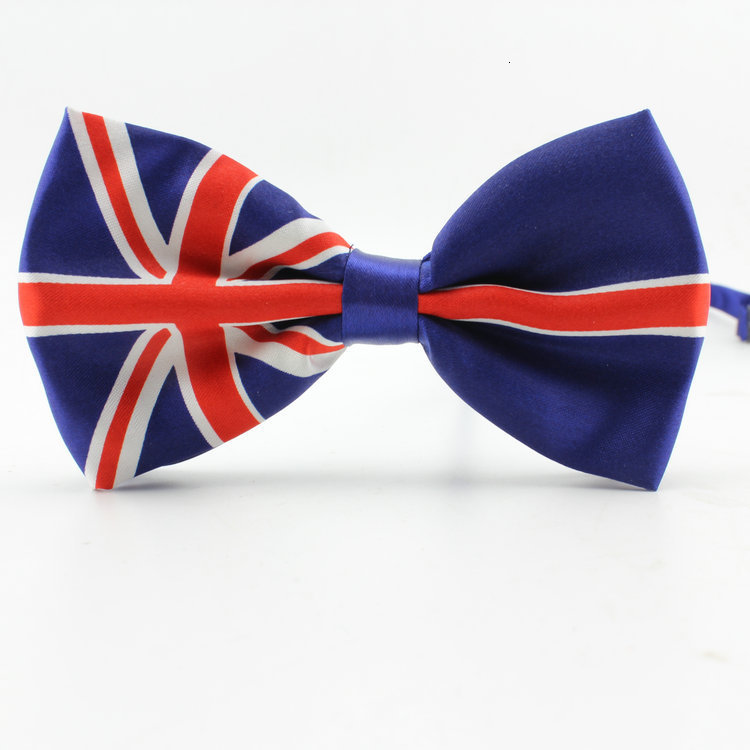 Novelty Polyester Bowtie Noeud Papillon Men Women Bow Tie Colorful Self Tie Neckwear USA UK Flag Bow Ties
