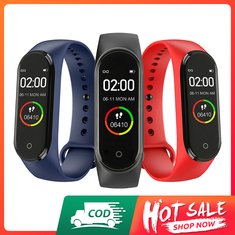 Accept cash on delivery-stock in Nigeria-fast delivery--M4 Smart Bracelet with 0.96 inch Display Screen