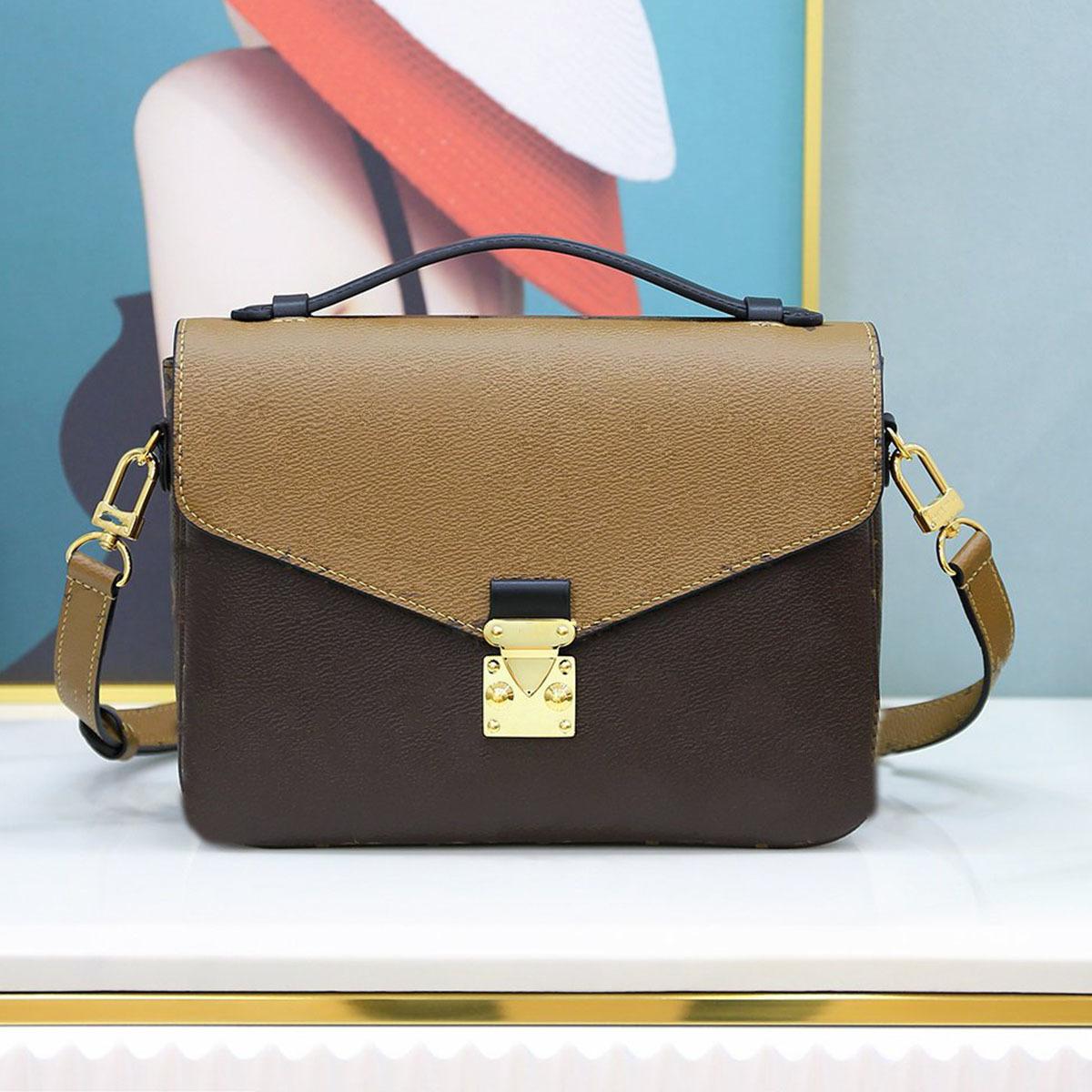 POCHETTE METIS Woman Handbag Bag Date code serial number Quality Leather Women Purse Messenger Shoulder Bags