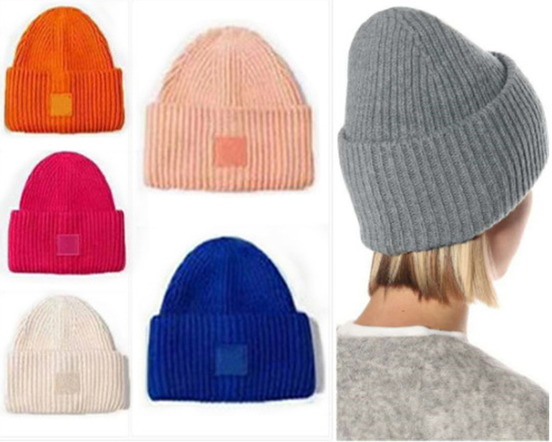 Beanie Fashion Knitted Hats Striped Knit Lovers cap Street Man Woman Skull Caps Colorful Bucket Hat 20 Color Top Quality