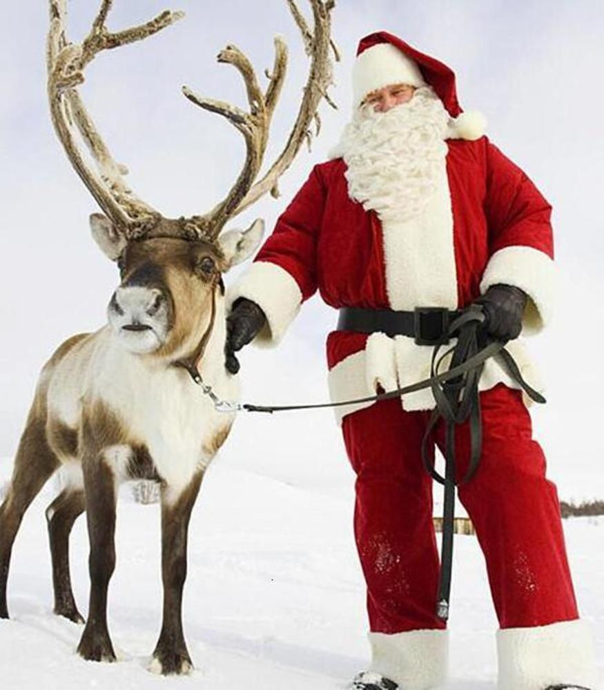 2020 christmas Fashion Design Santa Claus Mascot Costume Cartoon Cosplay Dress Customize Carnival Costume Christmas For Adult