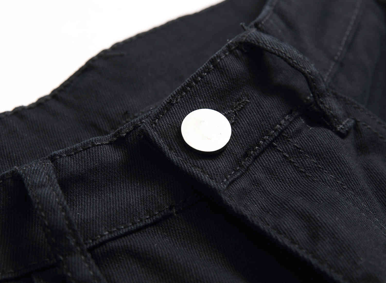 Skinny Mens Black Jeans Cool Men Jeans Stretch Slim Fit Denim Biker Jeans Hip Hop Men Streetwear #