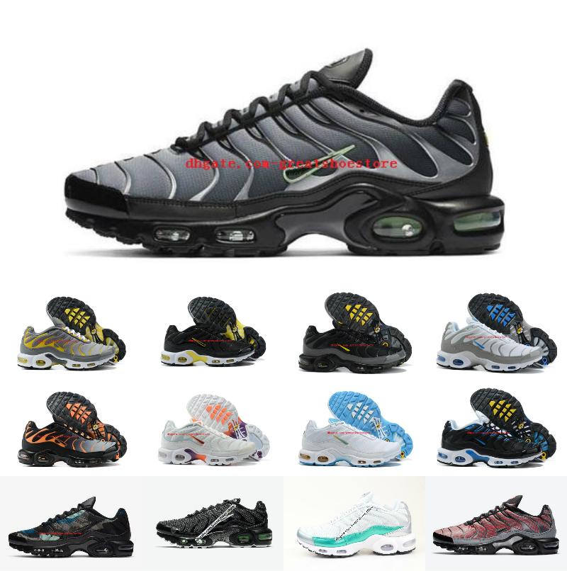Original Plus Tn Shoes Designer Fashion Men Breathable Heighten Mesh Chaussures Requin yellow Sports Trainers Shoe