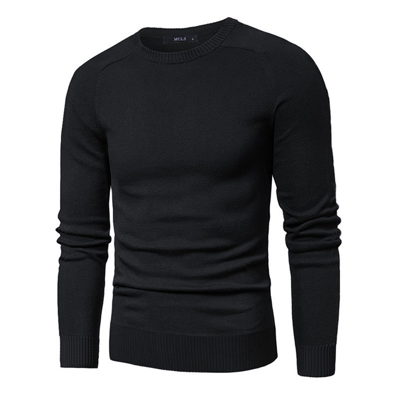 MuLS 2019 Sweater Pollovers Men Casual Cotton Knitted Sweater Jumper Pullover Round-Neck Knitwear Polo Jersey Men Plus Size 5XL 02