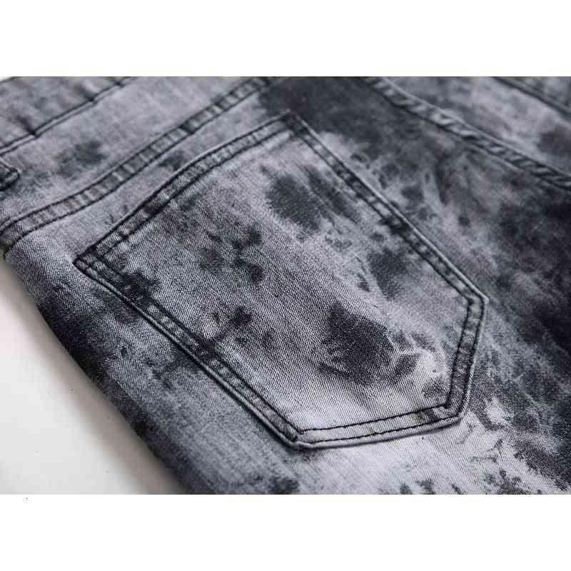 Mcikkny Mens Fashion Printed Jeans Pants Hip Hop Stretch Denim Trousers Male Streetwear (4)