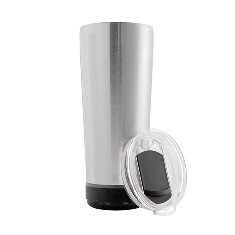 18oz Wireless Music Tumbler Stainless Steel Insulated Sublimation White Blank Tumblers with Speaker for Travel