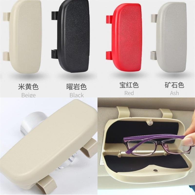 Vehicle Sunglass Case Holder Currency Undamaged Automobile Storage Boxes Interior Decoration Solid Color Fashion Accessories Car 13dm M2