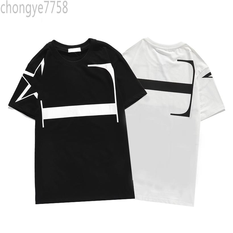 2021 Summer Fashion Brand luxury O-Neck Mens Tshirts Tops Short Sleeve shirt Black White Men Designer Tees chog