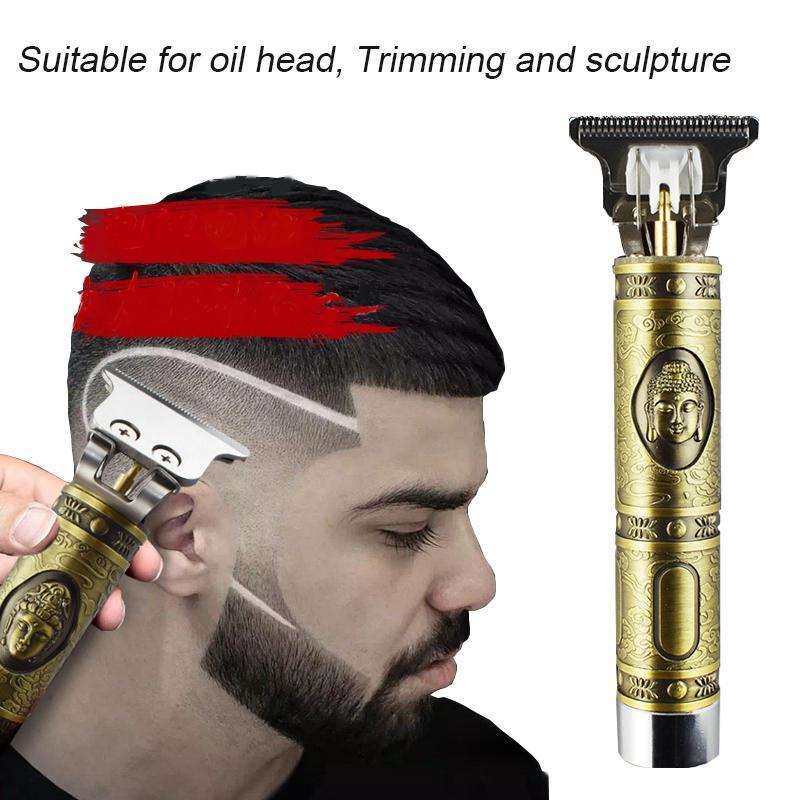 Electric Pro Li Liner Grooming Cordless Cutting T-Blade Trimmer Set Professional Men Hair Machine Beard Barber Cut Scissors