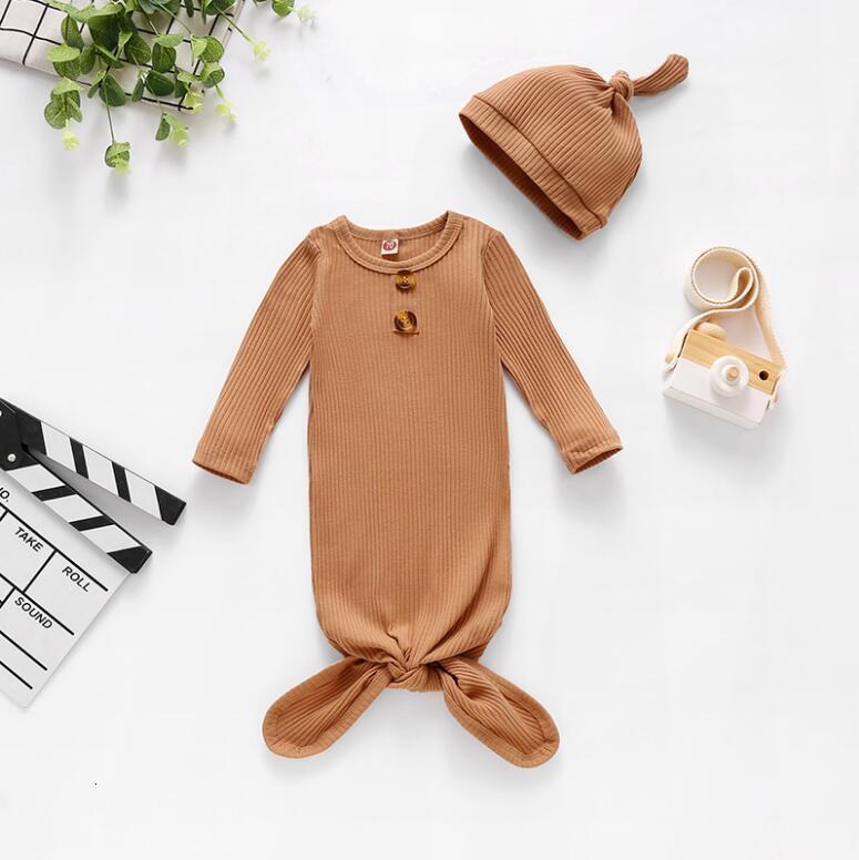 Infant Sleeping Bag Newborn Baby Swaddle Blanket hat Wrap Toddler Cotton Cartoon Sleeping Sacks Photography Prop zyy600