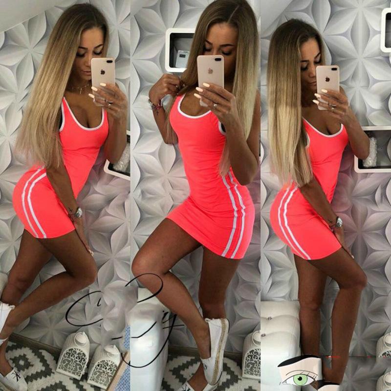 Tank Top Dress Bodysuit Mini Dresses Mini Skirts Fashion Women Clothes Black Gray Drop Shipping 220085
