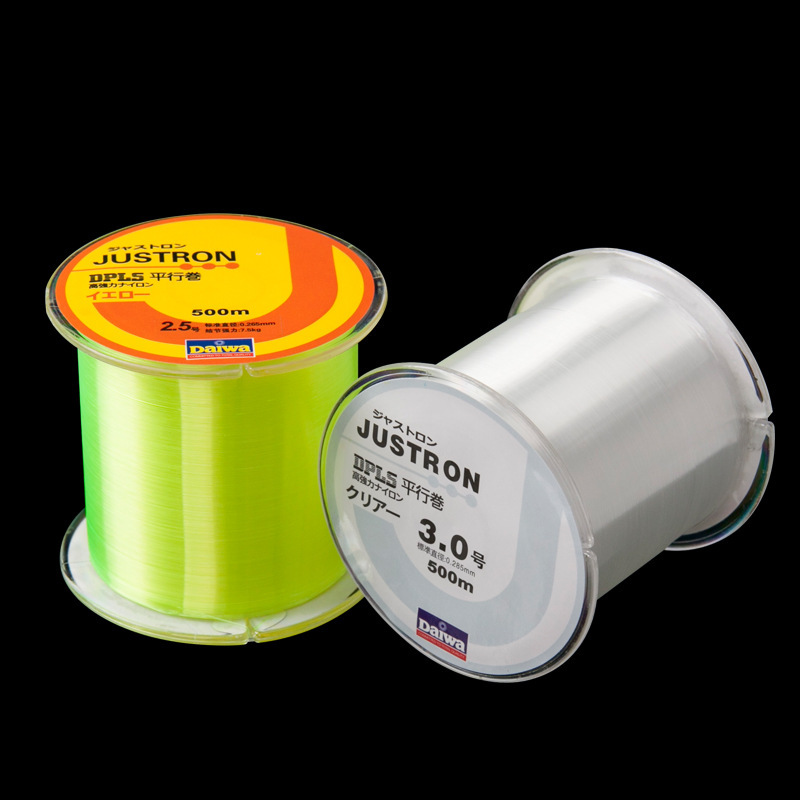 Super Strong Pull Fishing Line 500m Nylon Raw Silk Wear Resisting Not Easy To Age Lure Monofilament Angling Lines 6yk WW