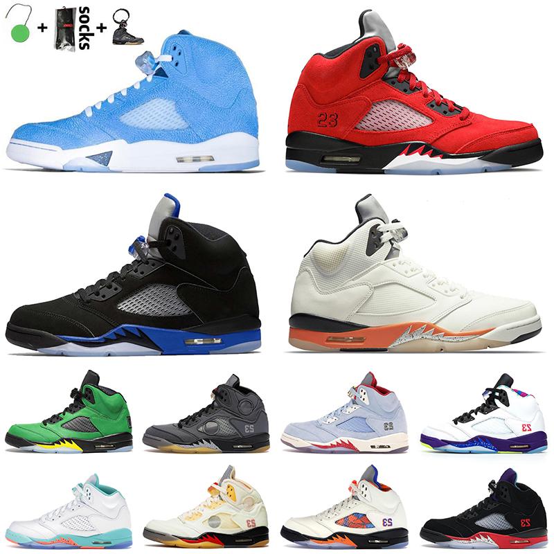 5s Jordan 5 Top Quality Men Women Basketball Shoes Retro Air Jumpman UNC Raging Bull Shattered Backboard Racer Blue Black Muslin Sail White Off NIK Jorden Sneakers
