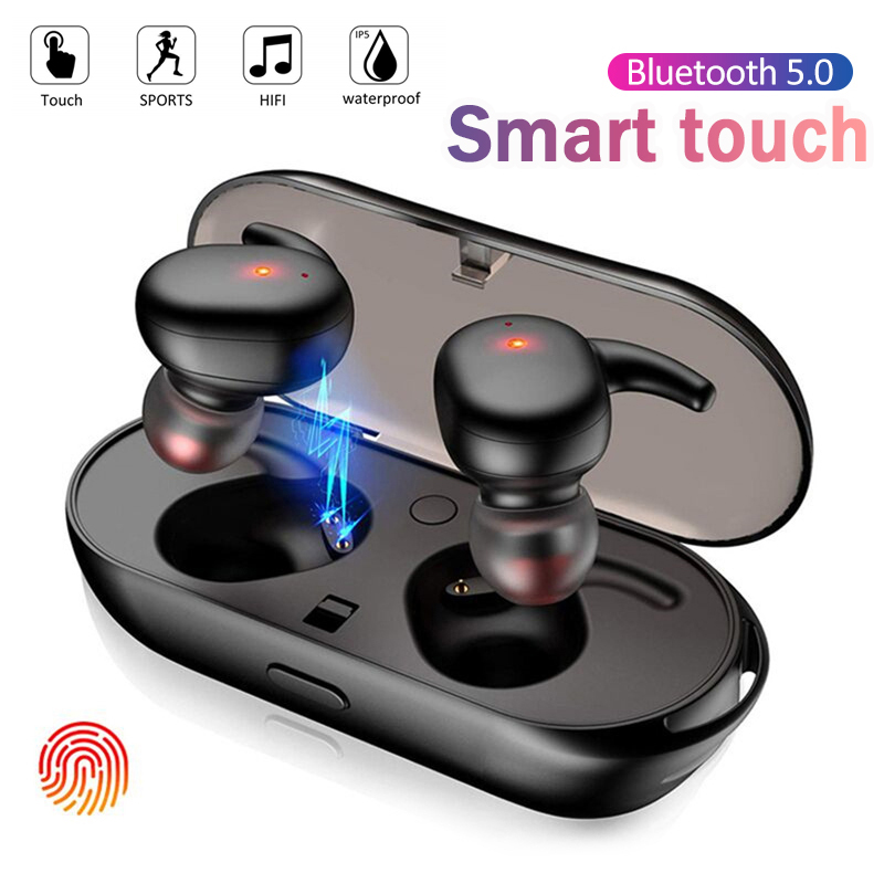 Factory Outlet Y30 TWS Wireless Blutooth 5.0 Earphone Noise Cancelling Headset 3D Stereo Sound Music In-ear Earbuds For Android IOS Cell Phone