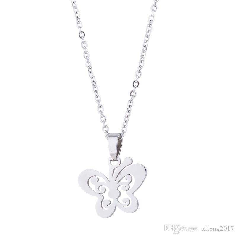 Butterfly Necklaces Earrings Sets Gold Stainless Steel Jewelry Set Cute Animal Stud Earings for Women Best Friend Jewelry Gift