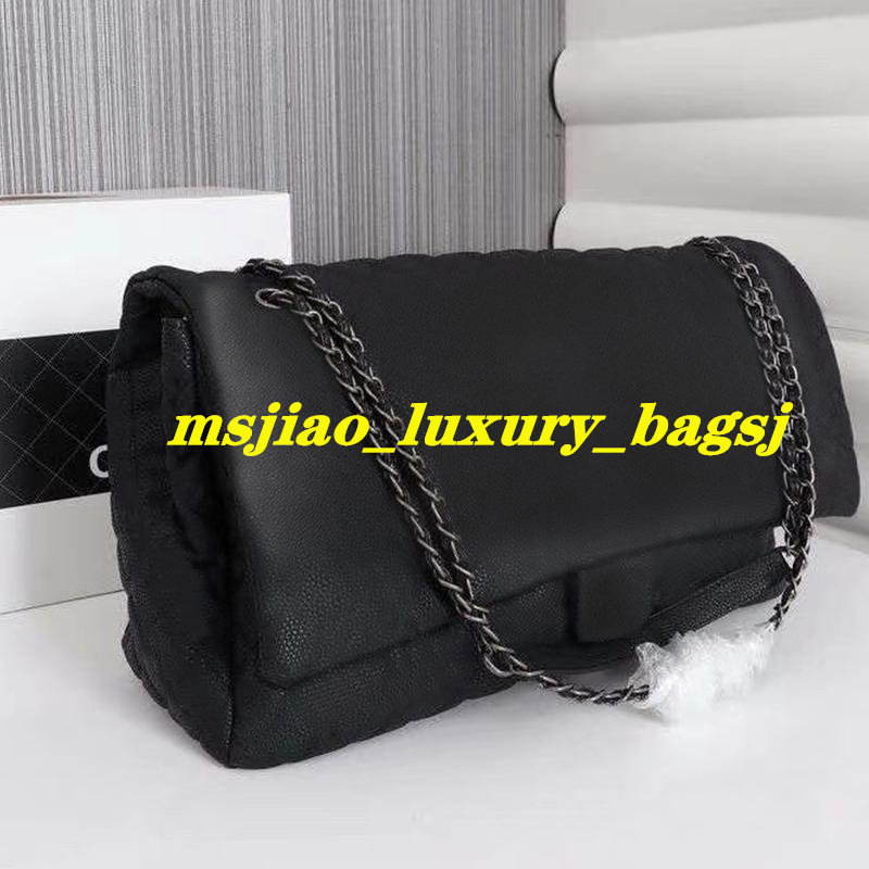 classic Women Large Capacity Duffel Bags 46CM Quilted Chain Shoulder Shopping Tote purse Airport Bag Weekender Traveling tote bags purse