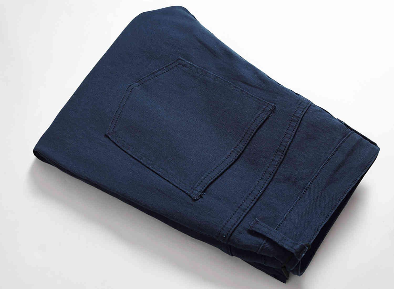 Skinny Mens Jeans Blue Ripped Destory Hole Cool Men Jeans Stretch Slim Fit Denim Biker Jeans Hip Hop Men Streetwear 2007-1#