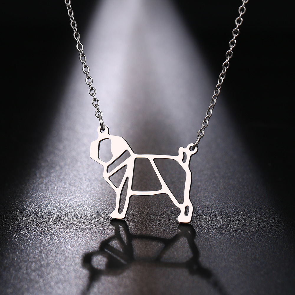 Cacana Stainless Steel Necklac Cute Dog Pet Pendant for Women Love My Pet Animal Dog Necklace Choker Ketting Jewelry Gift (7)