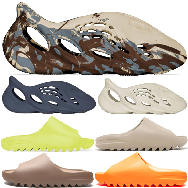 Fashion Slides Men Sandals Hole Slippers Shoes Women Size 13 Cream Clay Sand Glow Green Pure Casual Sneakers Ararat Mineral Blue Beach Enflame Orange Soot Bone Core