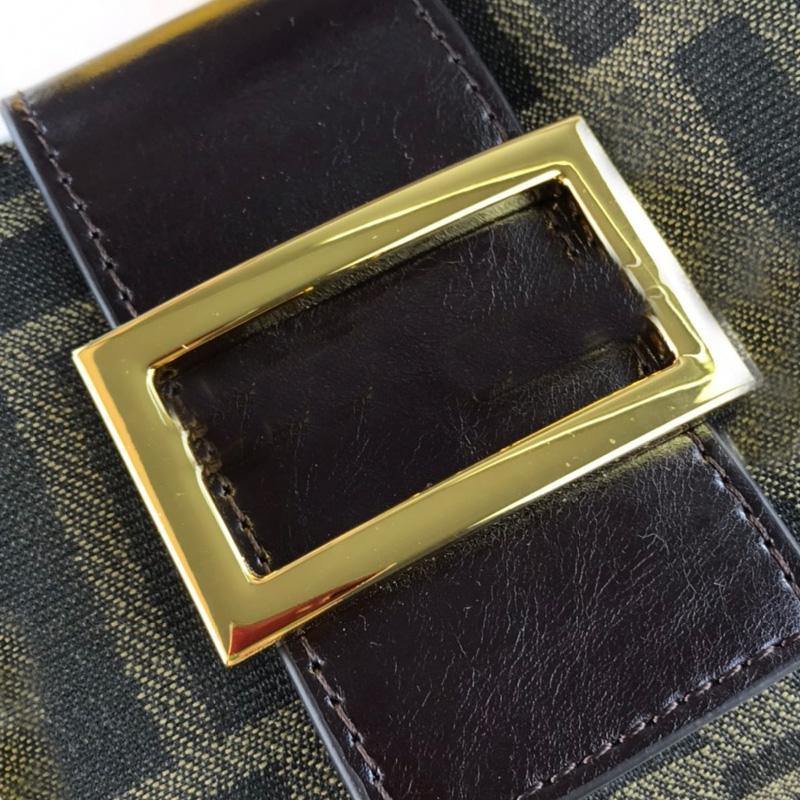 Vintage Hobo Shoulder Bag Fashion f letter Canvas Handbag Classic Baguette Hand Bags Lady Underarm Tote Gold Silver Buckle All-match