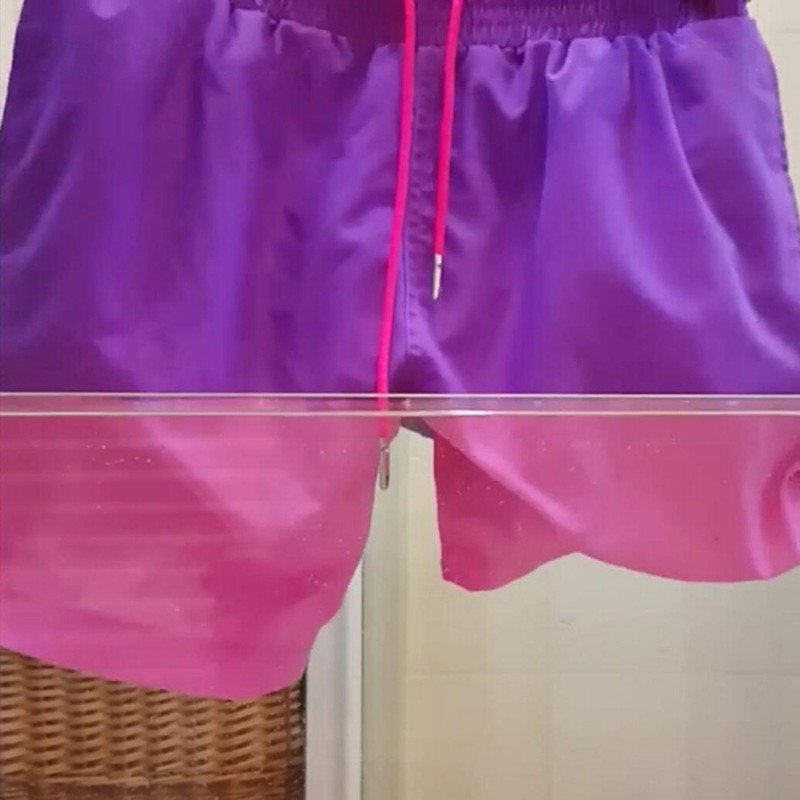 Magical Change Color Beach Shorts Summer Men Swimming Trunks Swimwear Swimsuit Quick Dry Bathing Shorts Beach Pant